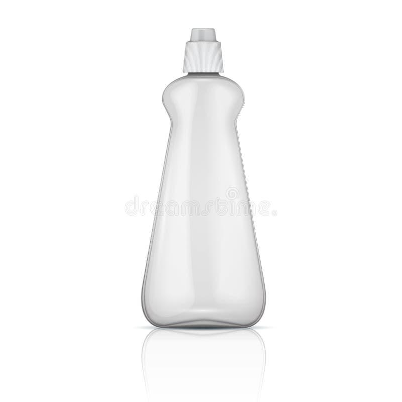 Garrafa plástica transparente com tampão do riffle. ilustração do vetor