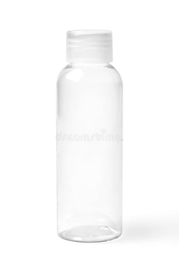 Garrafa plástica transparente vazia fechado foto de stock royalty free