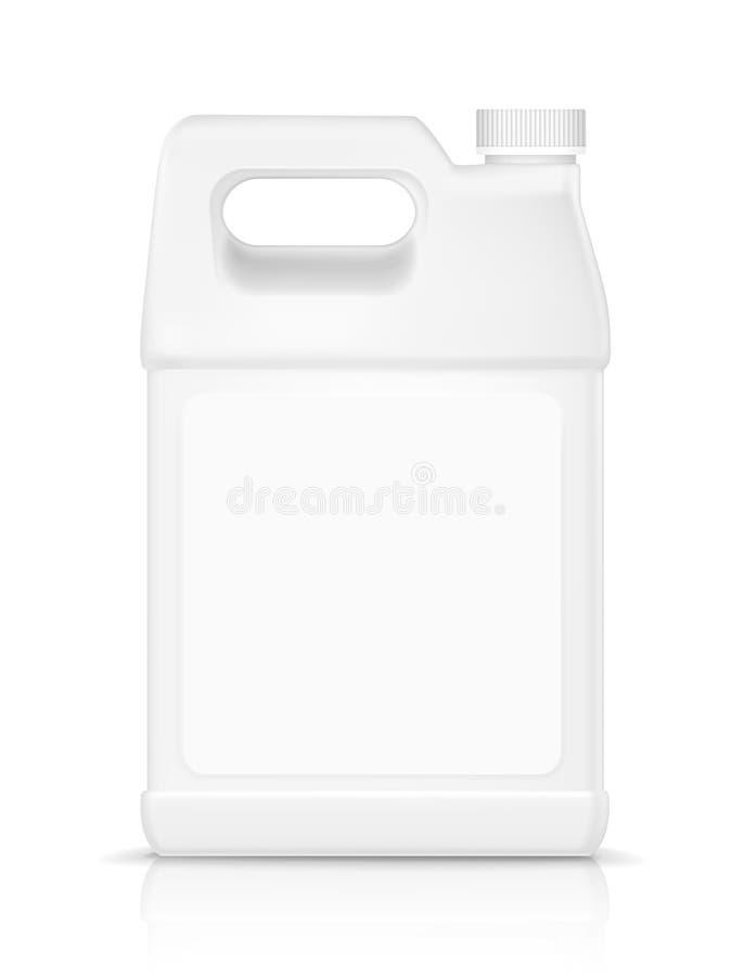 Garrafa plástica vazia para o detergente ilustração stock