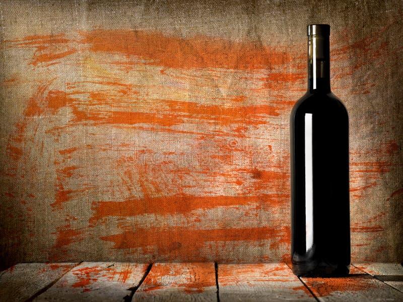 Garrafa preta da textura do vinho imagem de stock
