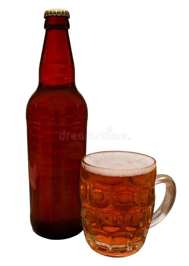 Garrafa tradicional da cerveja do ofício foto de stock