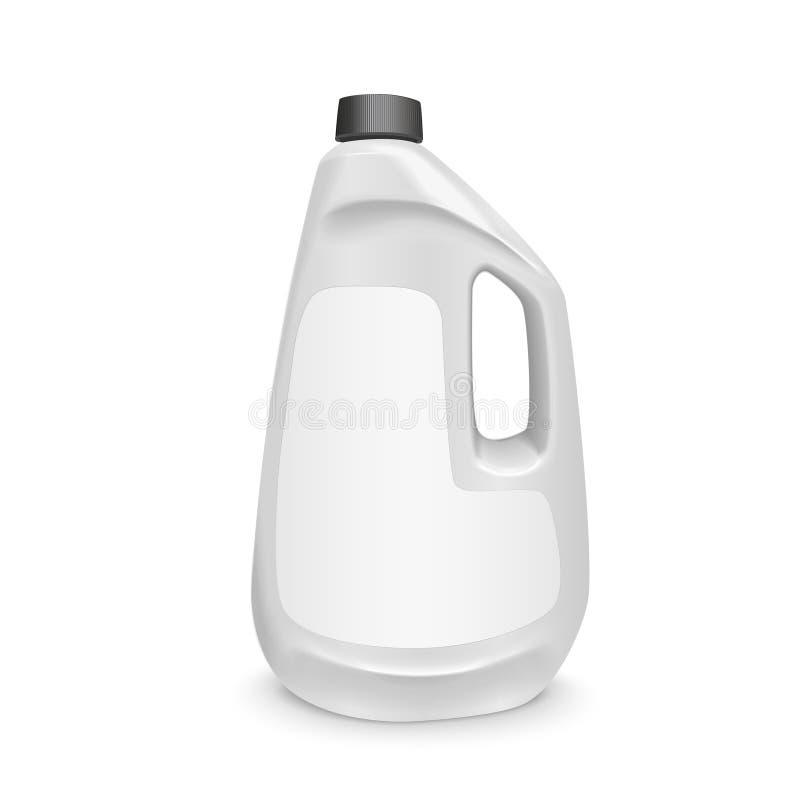 Garrafa vazia do detergente para a roupa ilustração do vetor