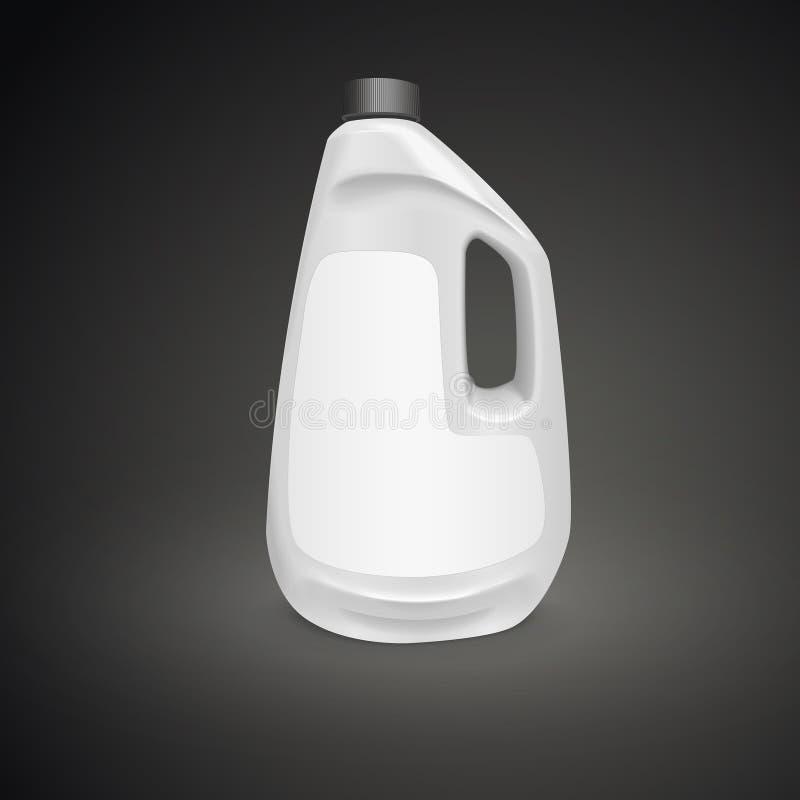 Garrafa vazia do detergente para a roupa ilustração stock