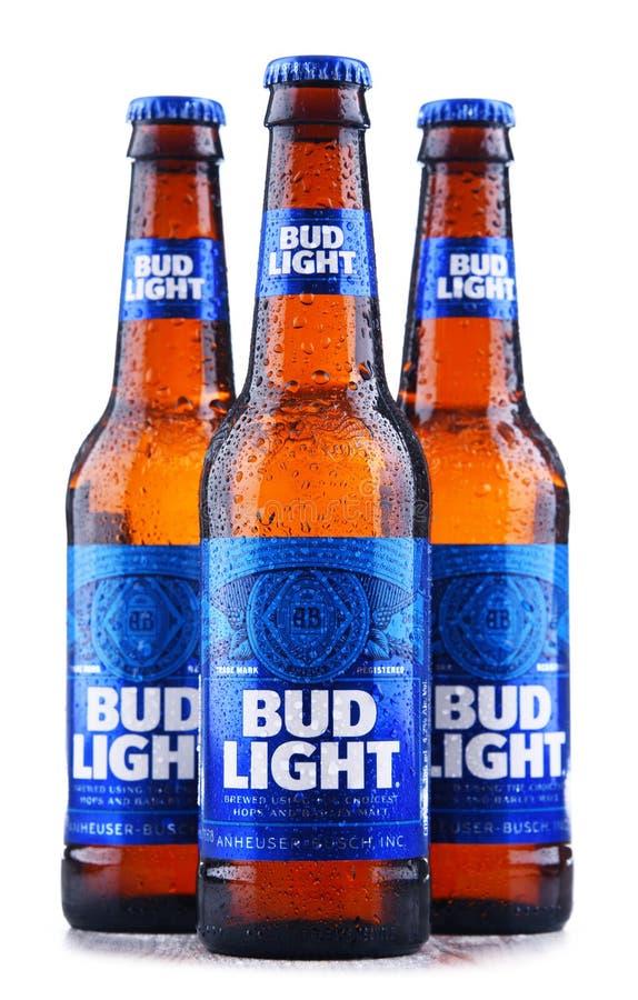 Garrafas da cerveja de Bud Light fotos de stock