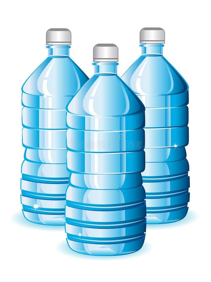Garrafas de água ilustração do vetor