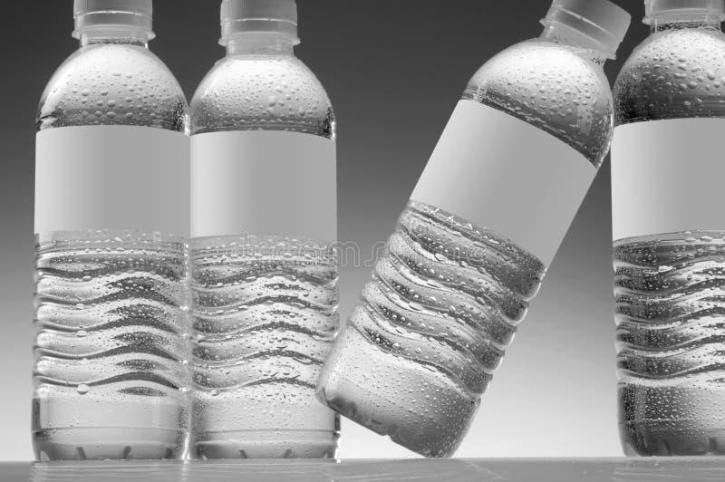 Garrafas de água fotografia de stock