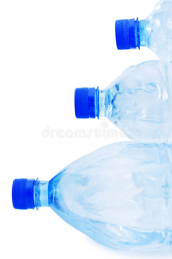 Garrafas de água isoladas foto de stock