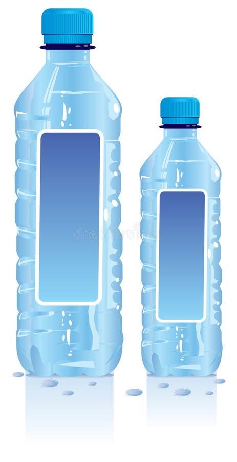 Garrafas de água plásticas ilustração royalty free