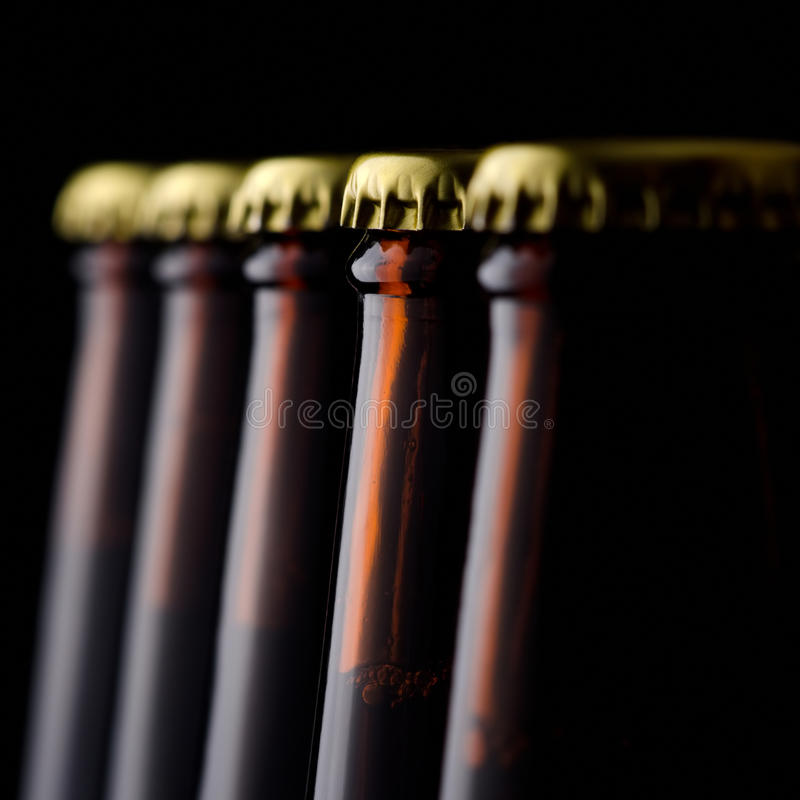 Garrafas de cerveja foto de stock royalty free