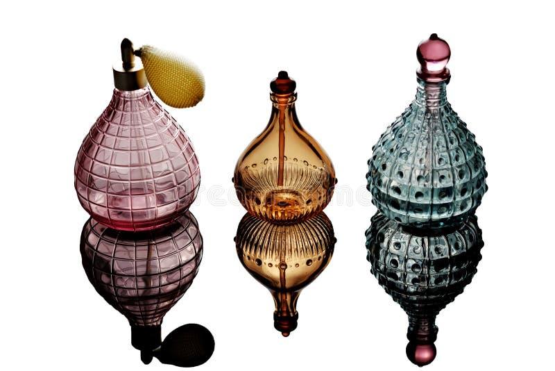 Garrafas de perfume fotografia de stock royalty free