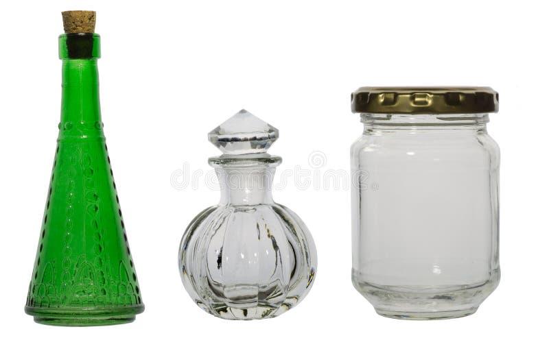 Garrafas de vidro foto de stock royalty free