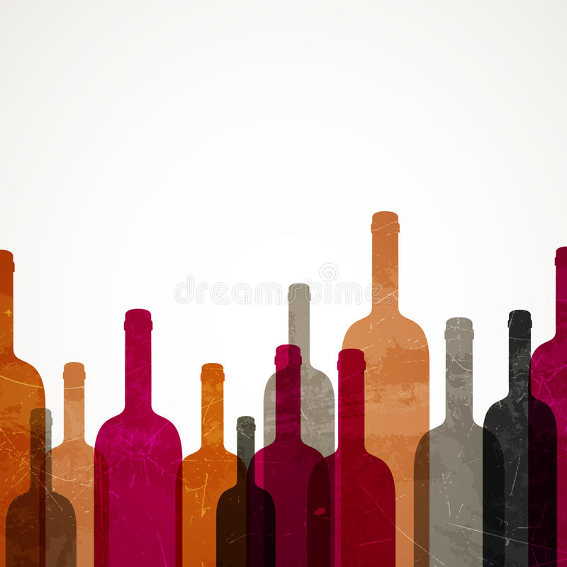 Garrafas de vinho ilustração do vetor