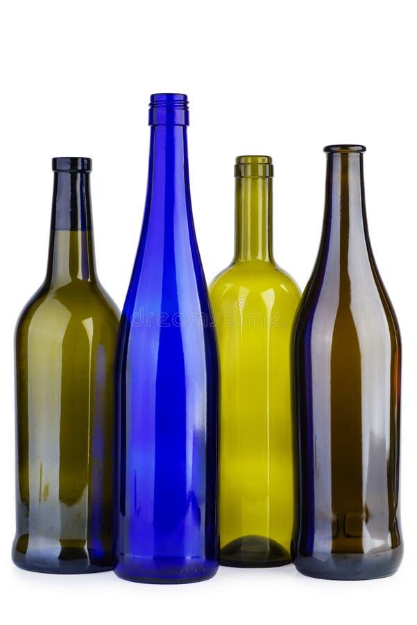 Garrafas de vinho vazias fotografia de stock royalty free