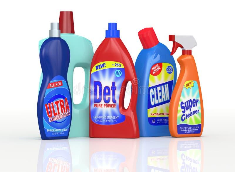 Garrafas detergentes ilustração do vetor