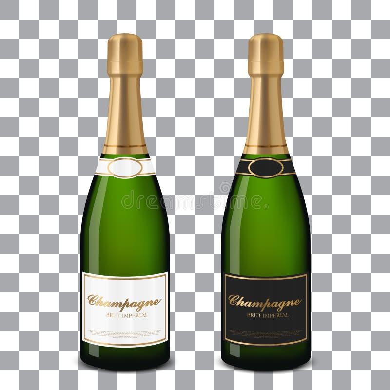 Garrafas do champanhe do vetor ilustração royalty free