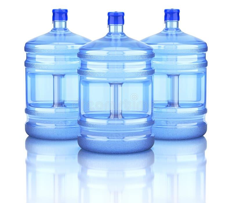 Garrafas do distribuidor da água ilustração do vetor