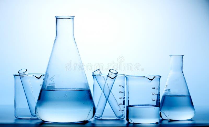 Garrafas do laboratório/frasco fotografia de stock