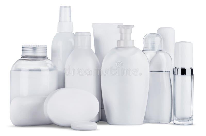 Garrafas e produtos cosméticos fotos de stock royalty free