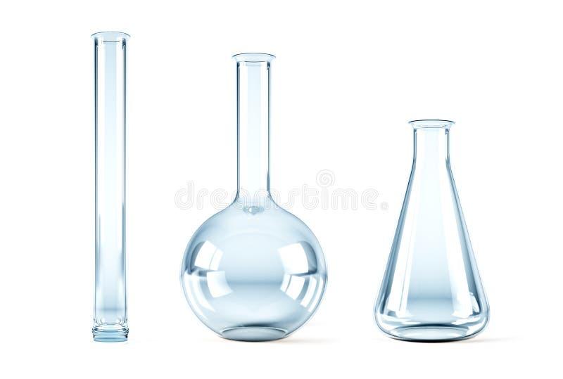 Garrafas químicas vazias ilustração stock
