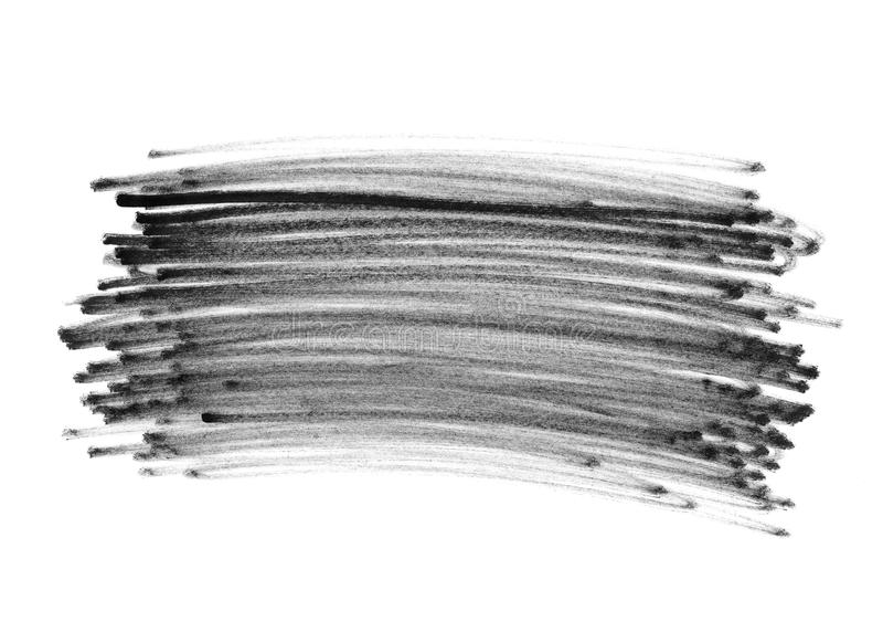 Garranchos da garatuja da pena de feltro fotografia de stock