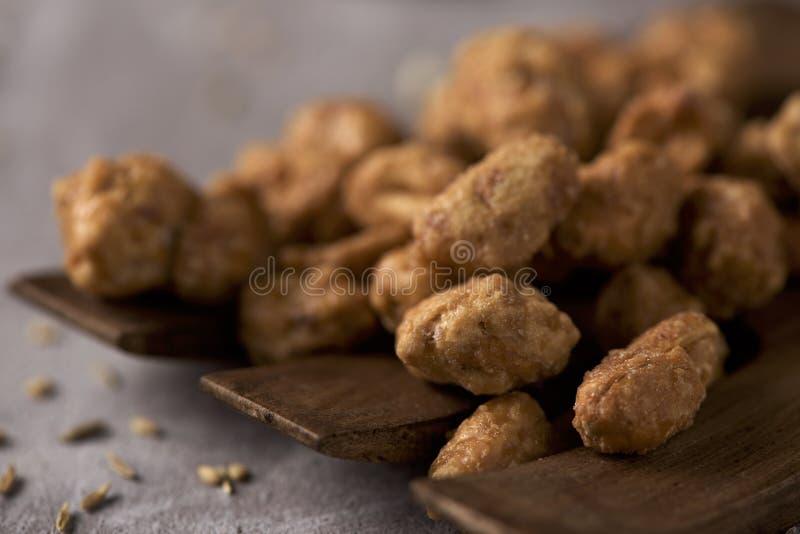 Garrapinados de Cacahuetes, arachides glacées espagnoles image libre de droits