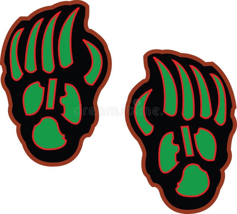 Garras de urso fotografia de stock