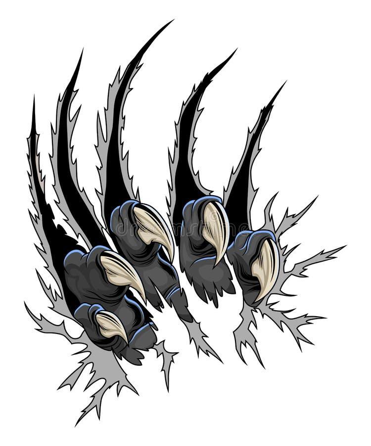 Garras predadoras ilustração royalty free