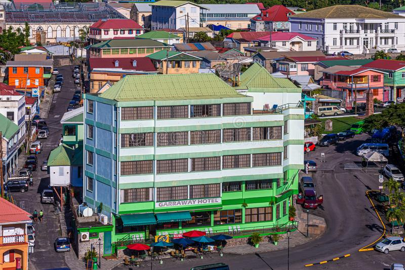 Garraway Hotel in Dominica royalty free stock images