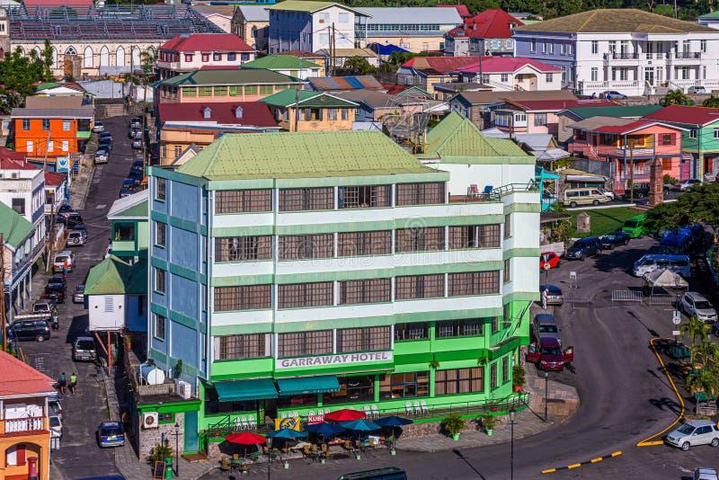 Garrawayhotel in Dominica royalty-vrije stock afbeeldingen
