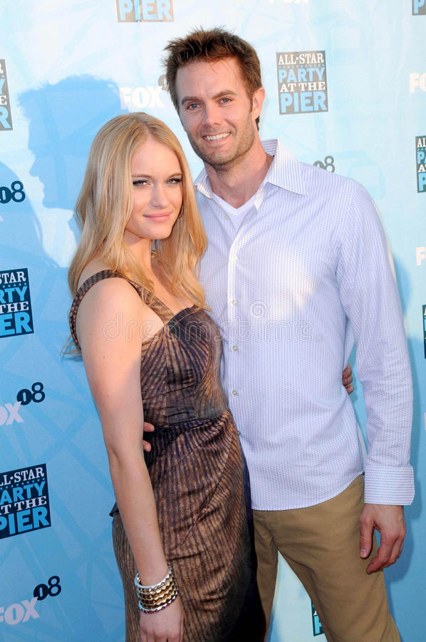 Garret Dillahunt,Leven Rambin. Leven Rambin and Garret Dillahunt at the FOX All Star Party. Santa Monica Pier, Santa Monica, CA. 07-14-08 royalty free stock photos