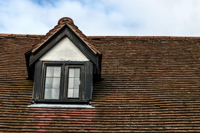 Garret Roof. Detail of Garret Roof in England royalty free stock image