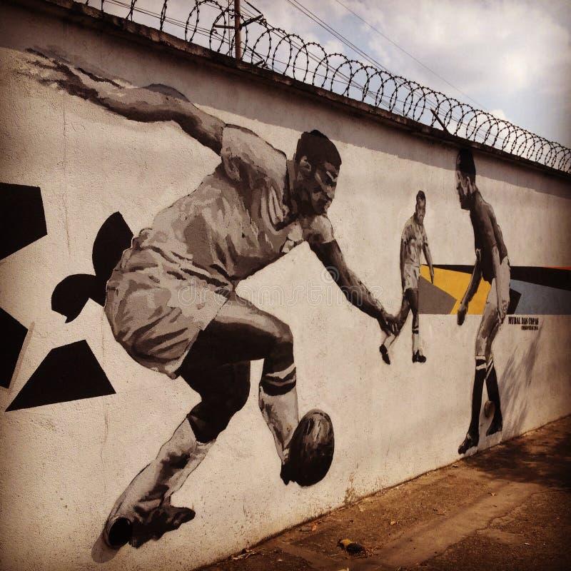 Garrincha speelvoetbal royalty-vrije stock afbeeldingen