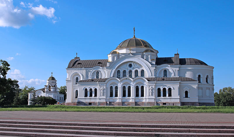 Garrison St Nicholas Church (cathédrale de garnison) à Brest image libre de droits