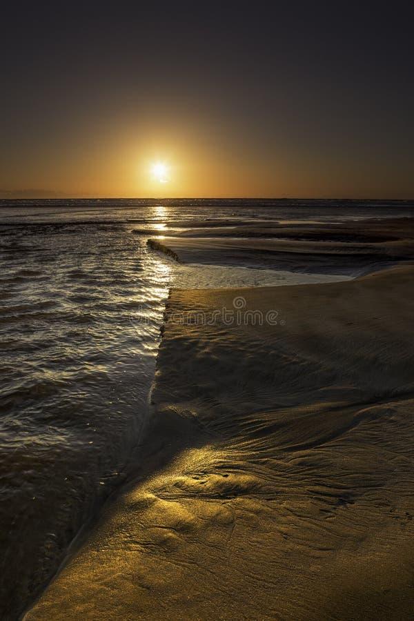 Garry Beach - lever de soleil images libres de droits