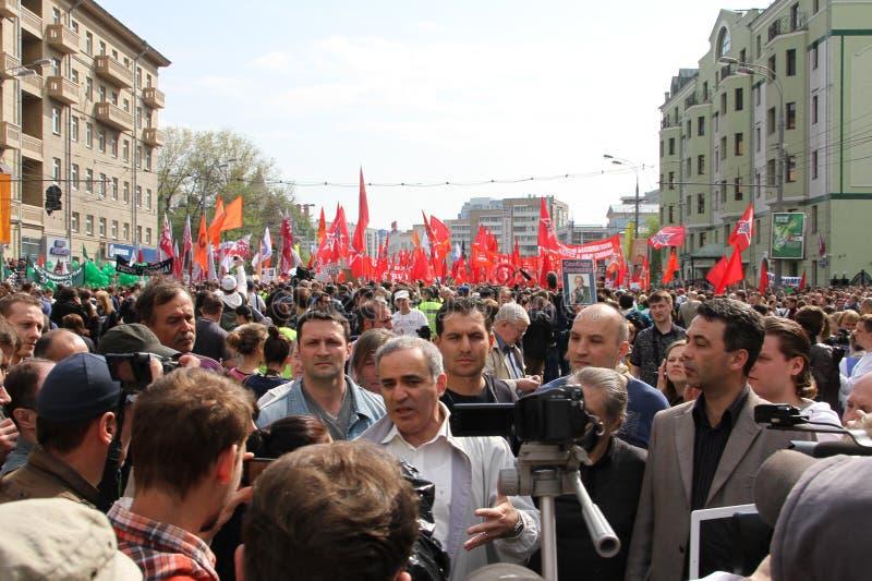 Garry Kasparov au rassemblement d'opposition photos stock