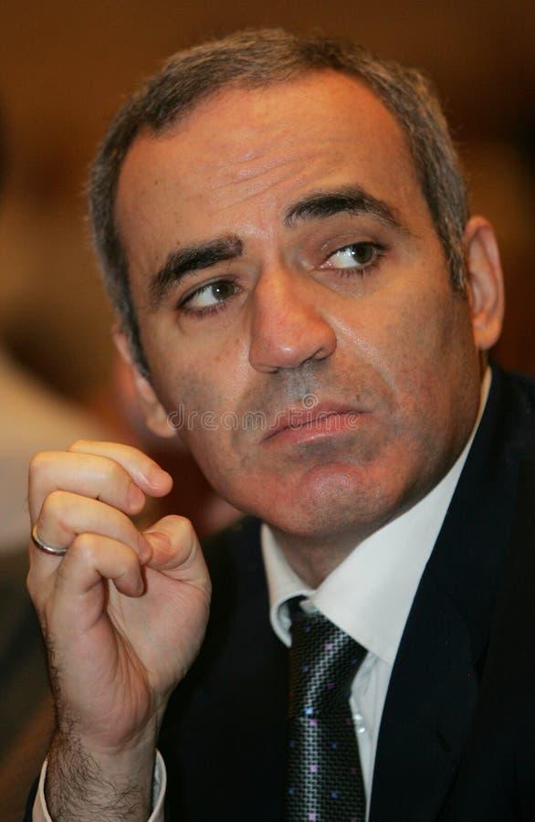 Garry Kasparov szachowy mistrz zdjęcie royalty free