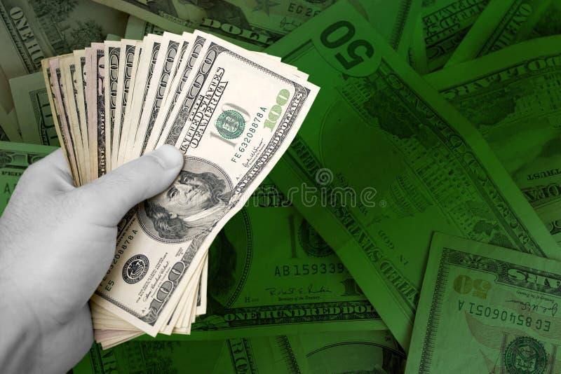 garstka pieniądze obraz royalty free