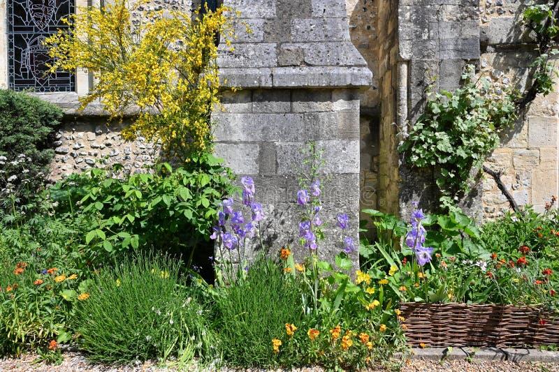 Garten beim großen Hall in Winchester lizenzfreie stockfotografie