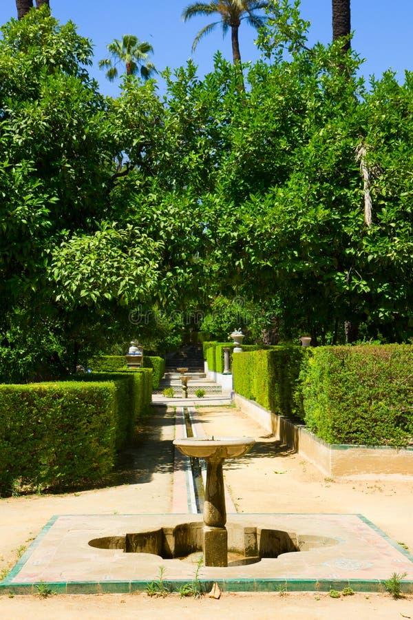 Garten der Dichter, Alcazar-Palast, Sevilla lizenzfreie stockfotografie