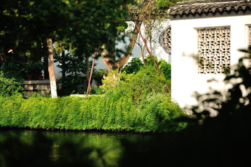 Garten in der Ecke lizenzfreie stockbilder
