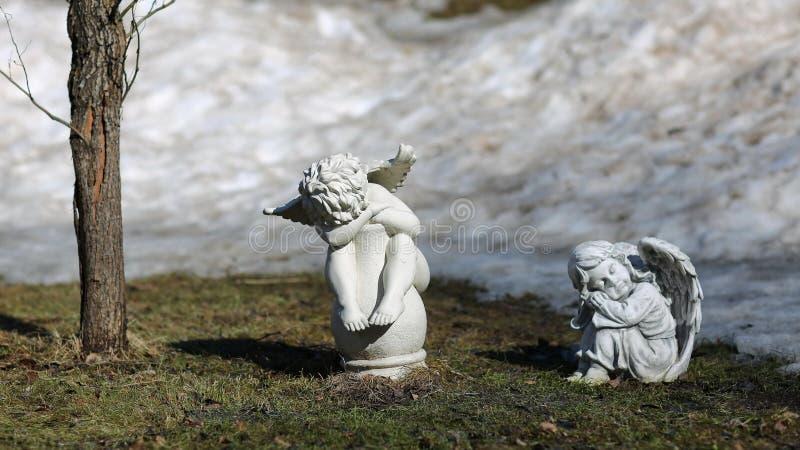 Garten der Engel im Frühjahr stockfoto