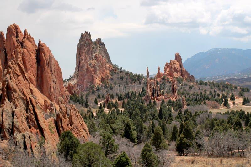 Garten der Götter, Colorado lizenzfreies stockbild