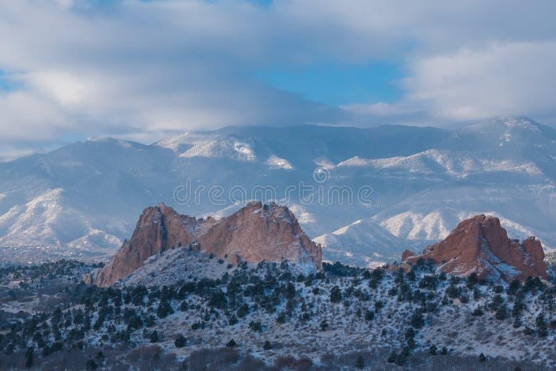 Garten der Götter, Colorado stockbild