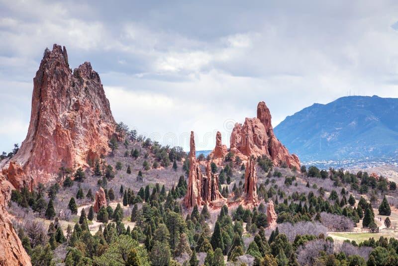 Garten der Götter in Colorado Springs lizenzfreies stockbild