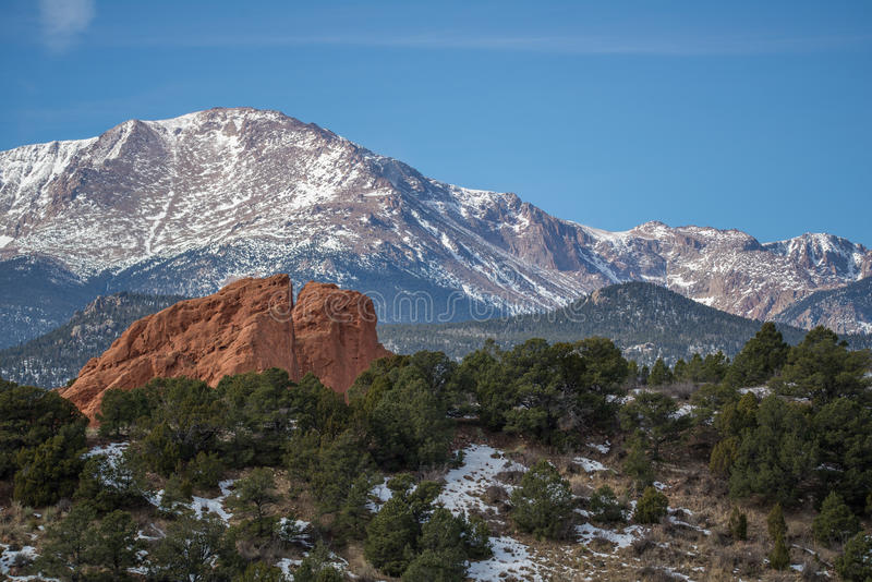 Garten der Götter Colorado Springs lizenzfreies stockfoto
