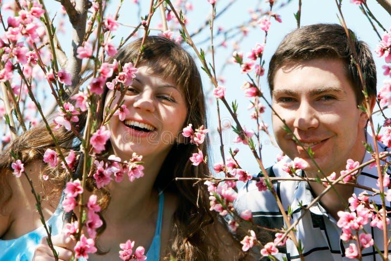 Download Garten Der Paare Im Frühjahr Stockbild - Bild von freundlich, familie: 9086841