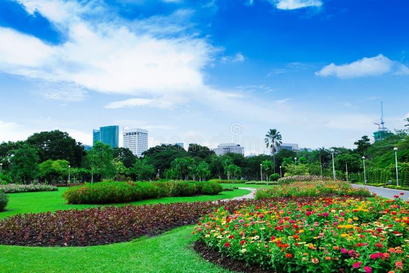 Garten in der Stadt lizenzfreie stockfotografie