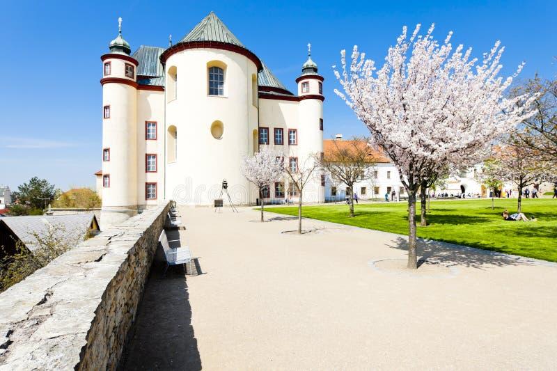 Garten des Klosters in Litomysl stockfoto