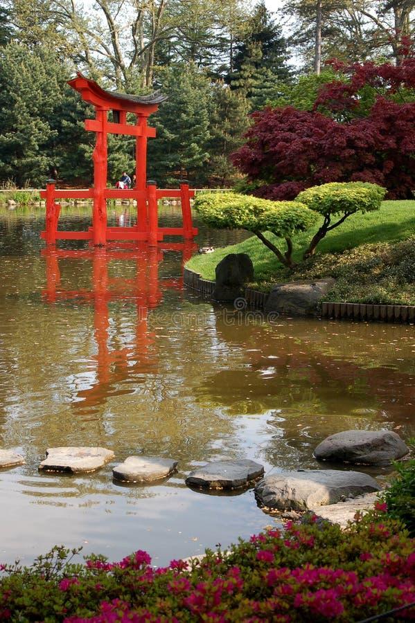 Garten für Meditation stockfotos