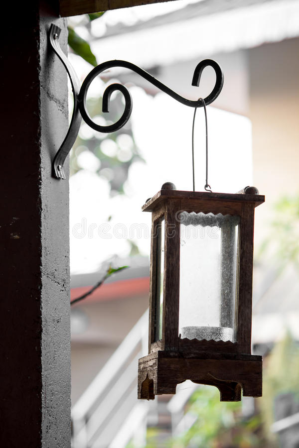 Garten-Hauptlampe verzieren Weinlese stockfotografie